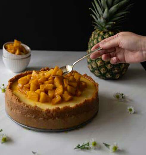 Cheesecake de Coco y Piña